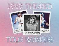 1989 World Tour Countdown Banners