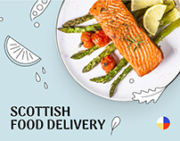 Food delivery. Website & identity elements