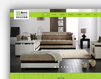 Homepage design of a furniture website