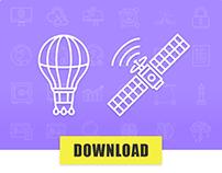 300 SEO icons • FREE NOW!