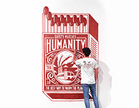 Humanity Matchbox Mural