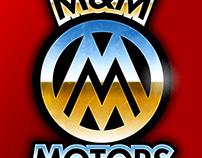 M&M Motors Garage Logo