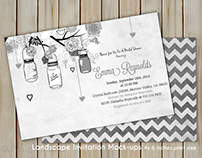 4x6 inches Invitation Card Mockup