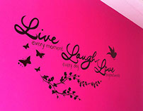 Mural Live, Laugh, Love