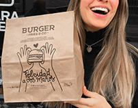 Illustrations for burger restaurant