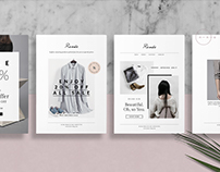 RENÉE — Postcard Template Set