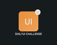 Daily UI Challenge (000-020)