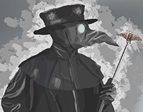 Plague Doctor Painting