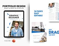 Graphic designer portfolio modern template