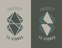 """Crossfit 12 Stones"" Logo Design Process"