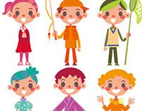 Seven color children 七色の子ども