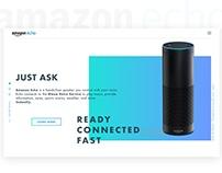 Amazon Echo Landing UI