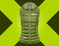 4 Matte Women's Down Vest with Hood PSD Mockups