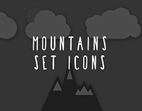 Mountain set icons