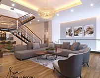 Phòng khách nhà anh Ninh