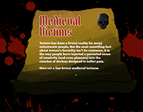 Medieval Victims, a website design