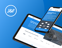J&F - Website UI/UX redesign