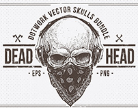 Dead Head Skulls Collection By:Vecster