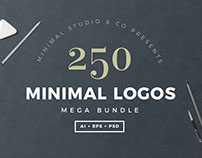 250 Minimal Logo Templates Bundle