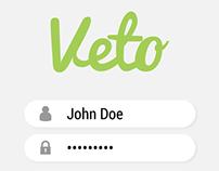 Veto App Concept UI/UX