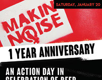 Makin' Noise 1 Year Anniversary Posters