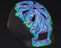 Painted Bike Helmet