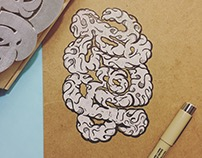 play / hard ambigram stamp