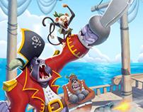 Pirate Apes - Game Art