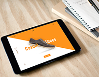 Tablet Mock-Ups shoe landing page tamplate