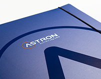 Astron folder design and printing