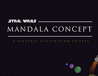 Star Wars Mandala - Illustration tribute