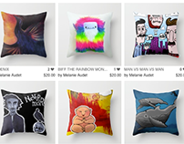 Artistic Throw Pillows