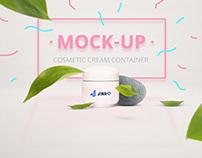 Cosmetic Cream Branding Mockup