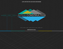ALPHA CONSTRUCTION LOGO DESIGN AND BRANDING