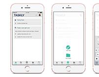 Taskly: Mobile Mockups