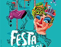 Poster for the greatest festivities of Igualada city