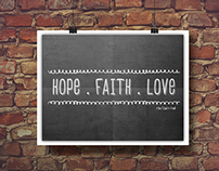 HOPE.FAItH.LOVE