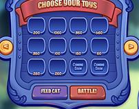 Unreleased tower defense game UI