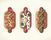 Hot Dogs Illustration