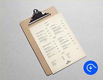 Free Minimal Restaurant Menu Template