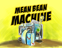 Mean Bean Machine - game interface and illustrations