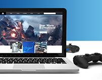 Playstation.com Redesign Concept
