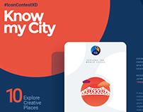 Know My City travel app #IconContestXD