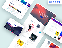 MI MUSIC - Free Website PSD Template