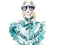 Fashion illustrations for my solo exhibition