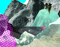 Experimente am Berg · Collage Series 3