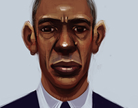 Barack Obama Portrait Study