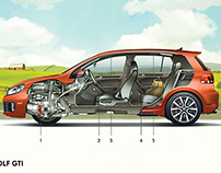 Volkswagen Technical Illustrations