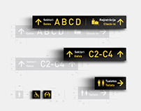 Riga Airport Logo Design Concept / Navigation Signs