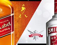 Johnnie Walker & Smirnoff Vodka